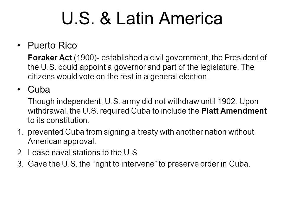 U.S. & Latin America Puerto Rico Cuba