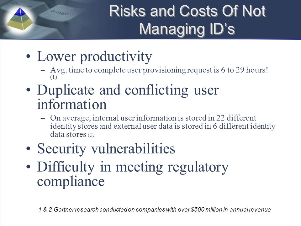 Risks and Costs Of Not Managing ID's
