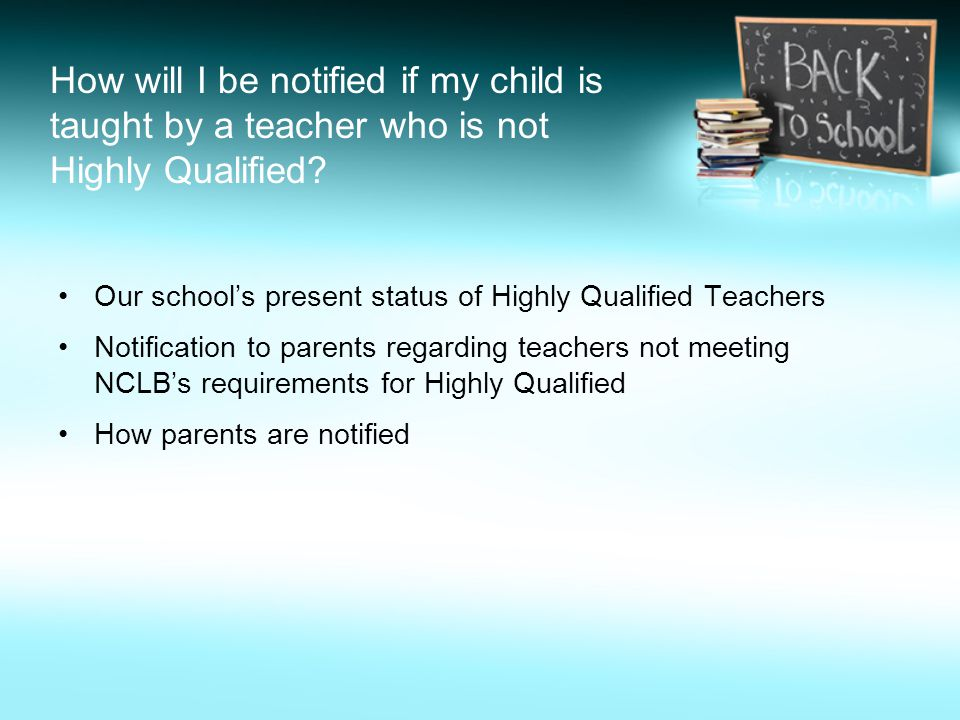 How will I be notified if my child is taught by a teacher who is not Highly Qualified