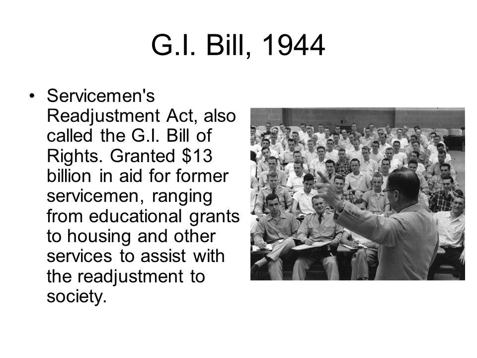 G.I. Bill, 1944