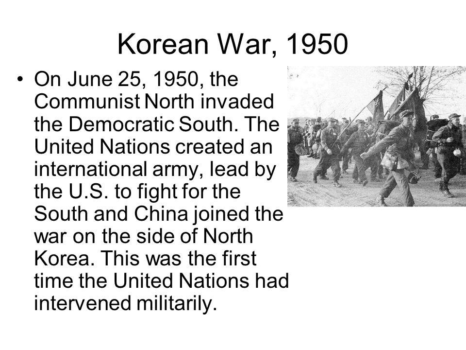 Korean War, 1950