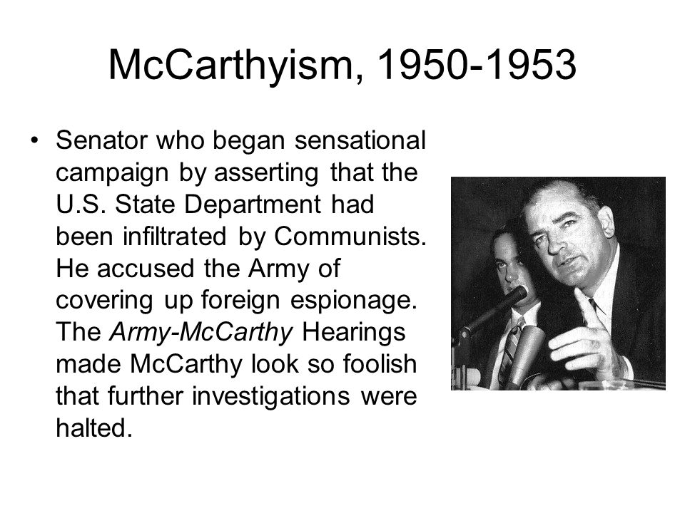 McCarthyism, 1950-1953