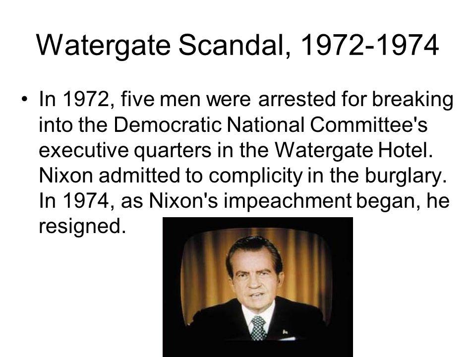 Watergate Scandal, 1972-1974