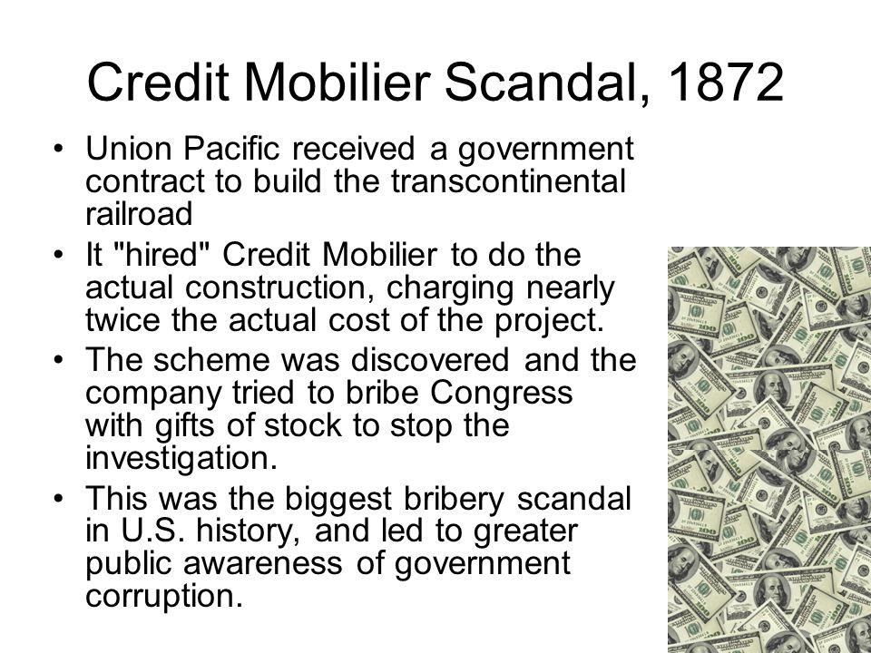 Credit Mobilier Scandal, 1872