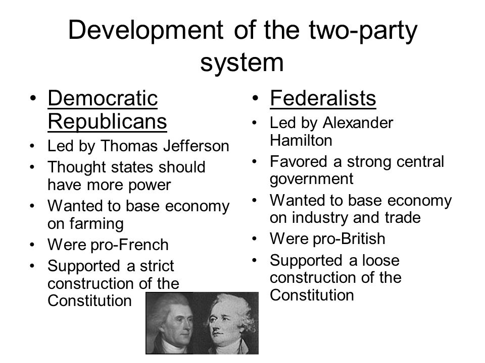 Development of the two-party system