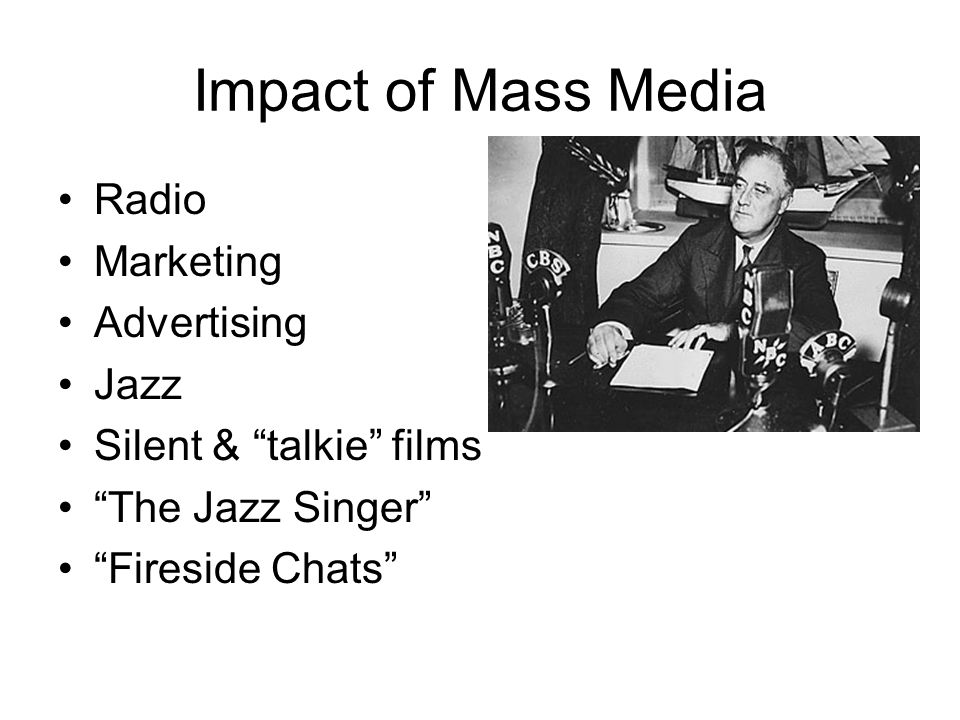 Impact of Mass Media Radio Marketing Advertising Jazz