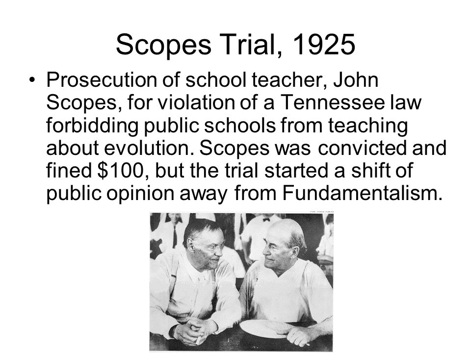 Scopes Trial, 1925