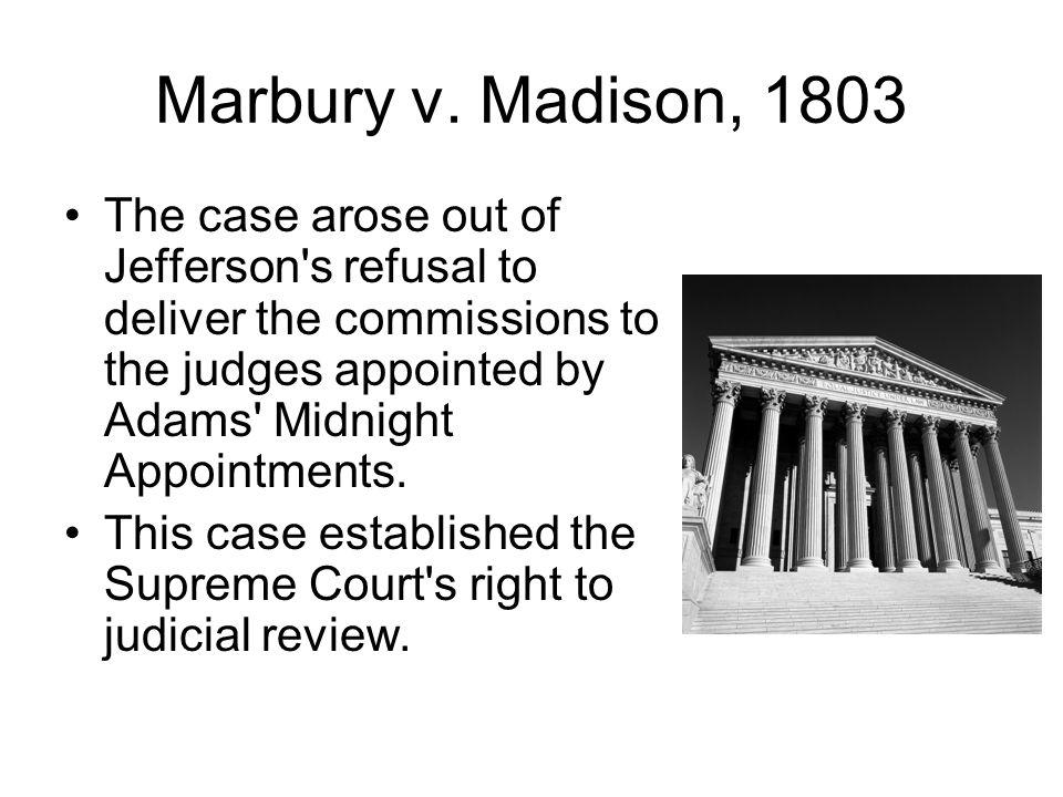 Marbury v. Madison, 1803