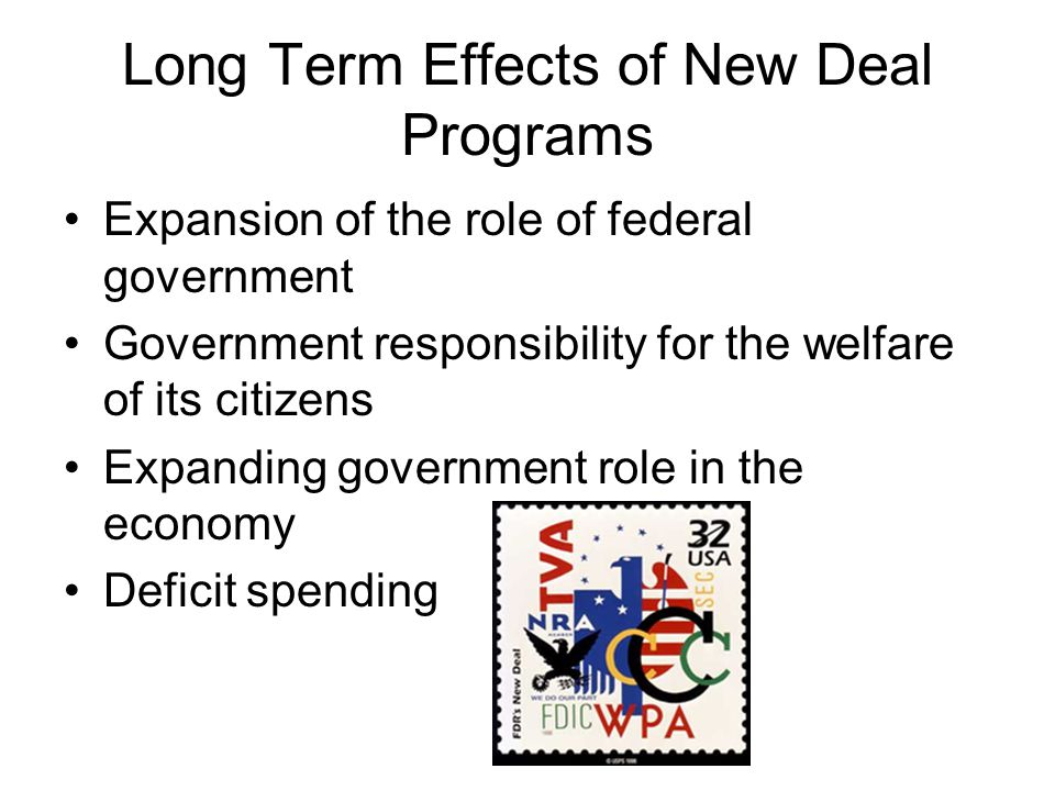 Long Term Effects of New Deal Programs