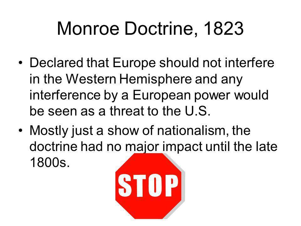Monroe Doctrine, 1823