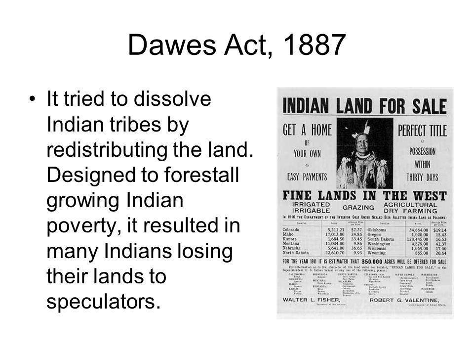 Dawes Act, 1887