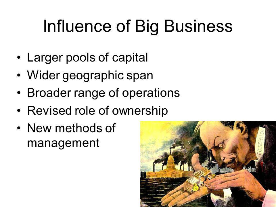 Influence of Big Business