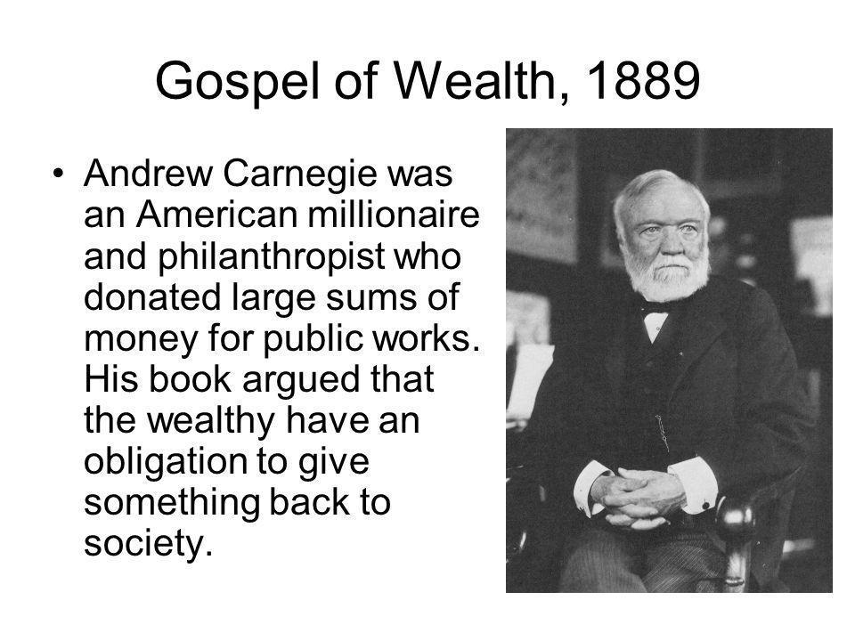Gospel of Wealth, 1889