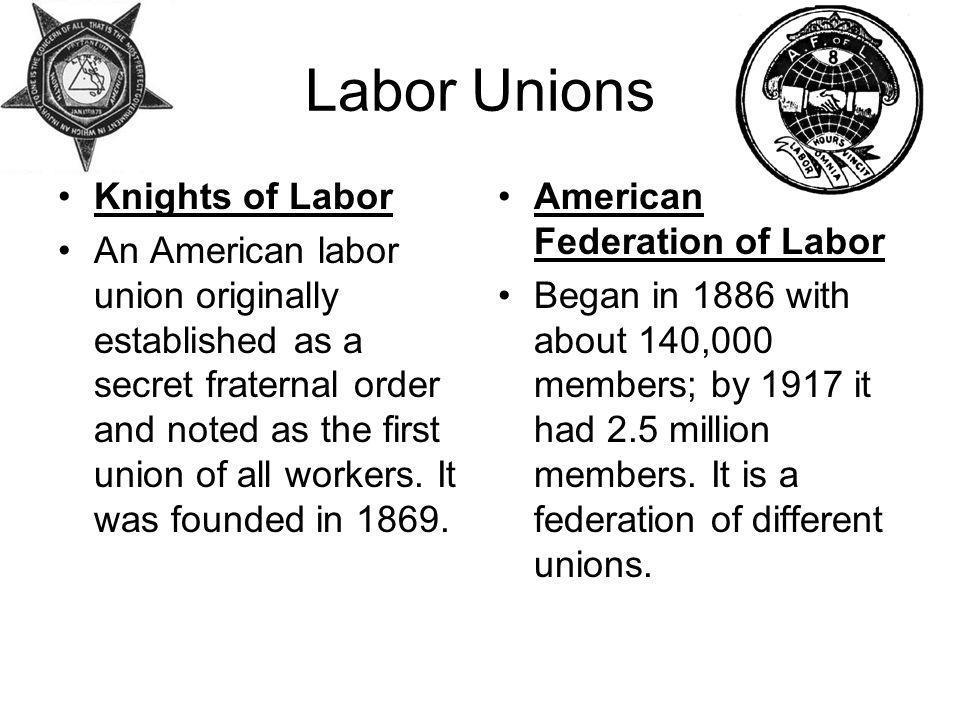 Labor Unions Knights of Labor