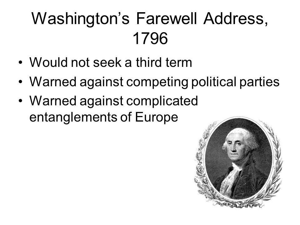 Washington's Farewell Address, 1796