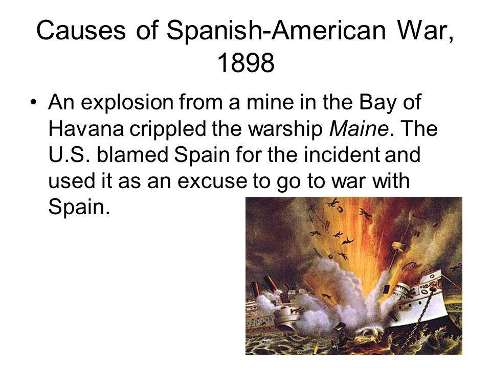 Causes of Spanish-American War, 1898