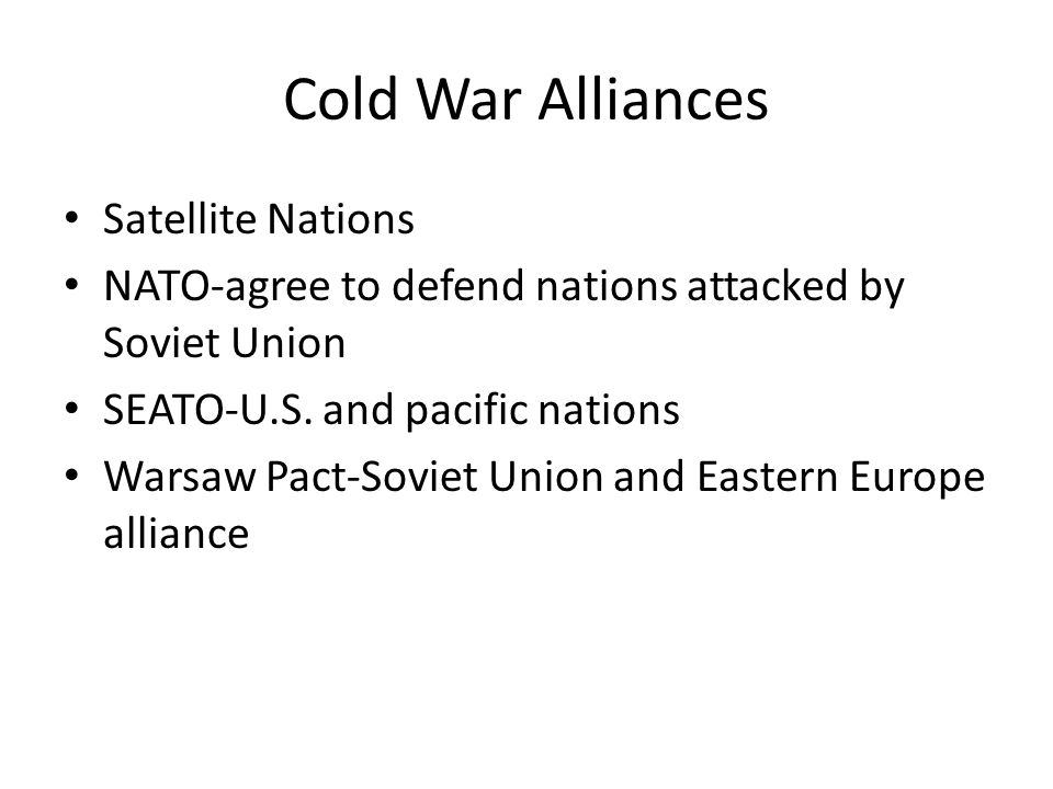 Cold War Alliances Satellite Nations