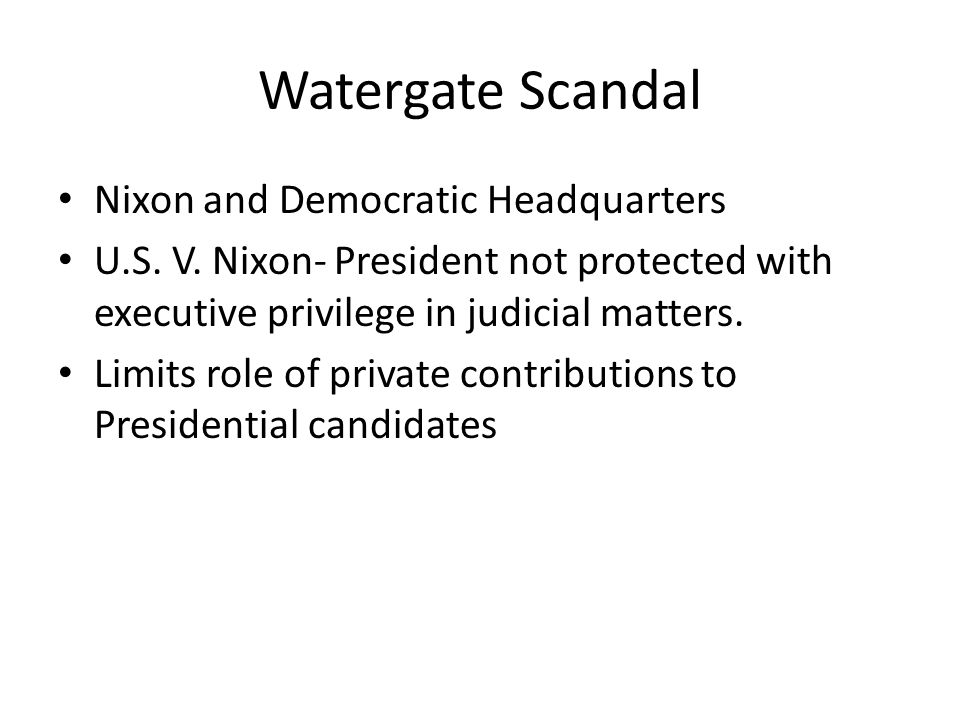 Watergate Scandal Nixon and Democratic Headquarters
