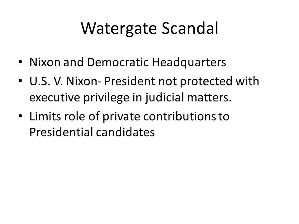 Watergate Scandal Nixon and Democratic Headquarters