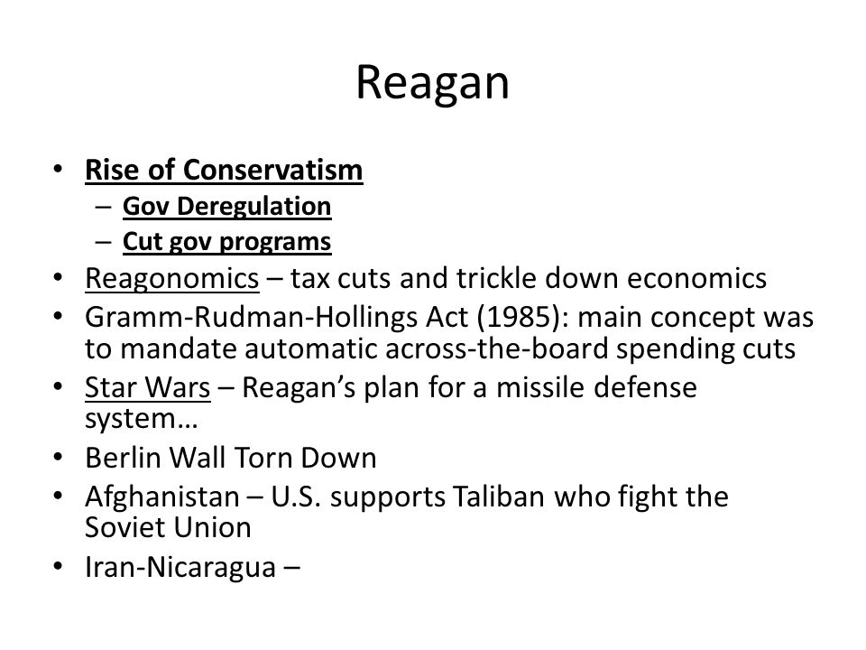 Reagan Rise of Conservatism