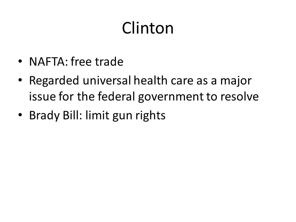 Clinton NAFTA: free trade