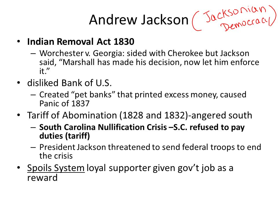 an analysis of andrew jacksons decisions in the bank war in 1832 2018-07-28 daniel webster (1782-1852) was an american statesman and member of the whig party that was widely known for opposing andrew jackson's war on the 2nd bank of the.