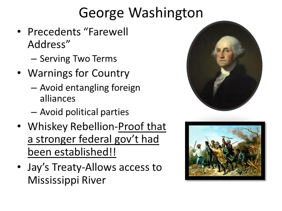 George Washington Precedents Farewell Address Warnings for Country