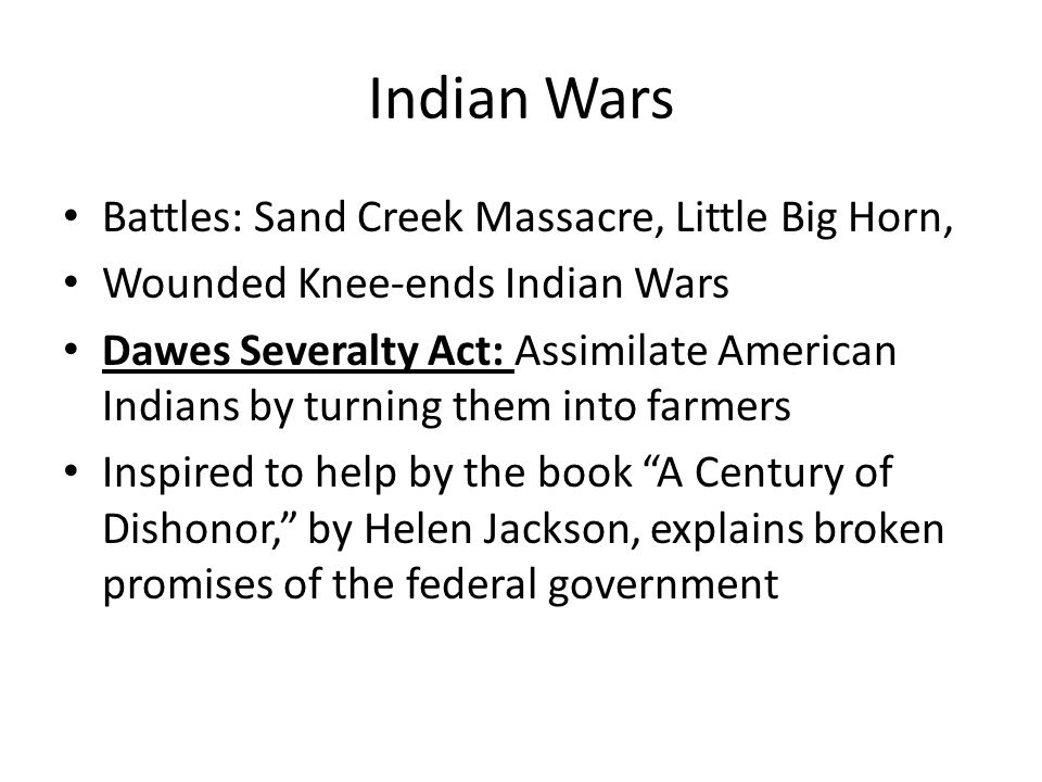 Indian Wars Battles: Sand Creek Massacre, Little Big Horn,
