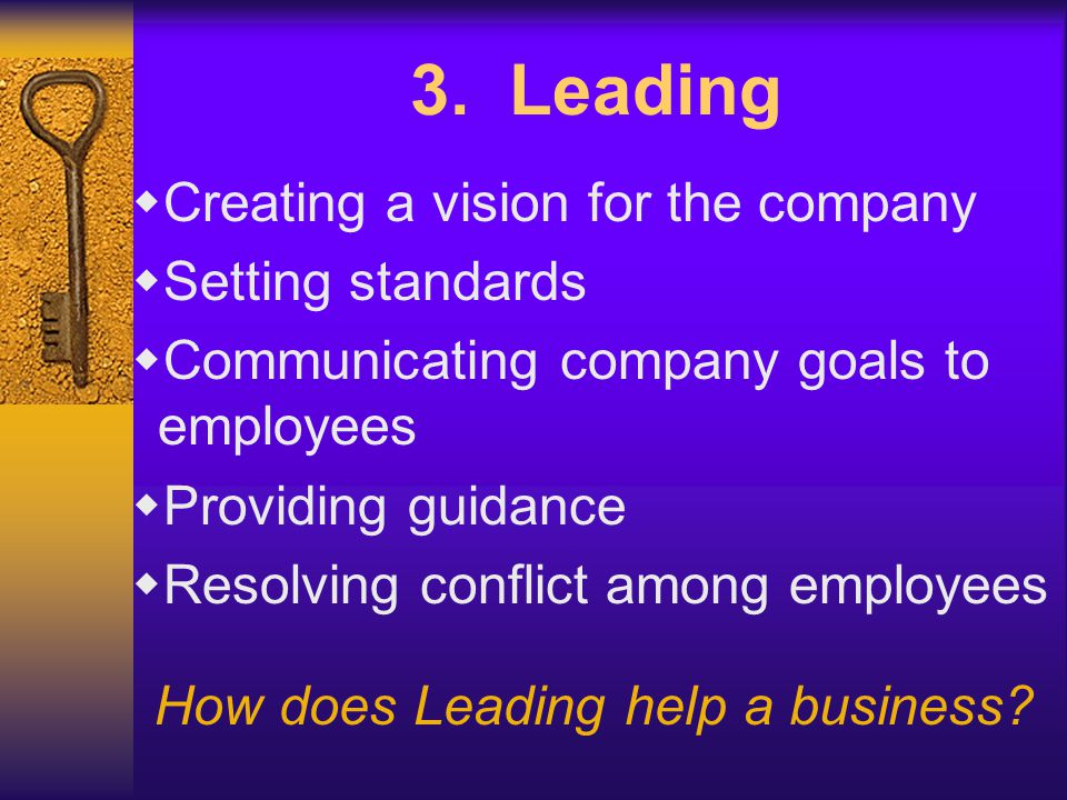 How does Leading help a business