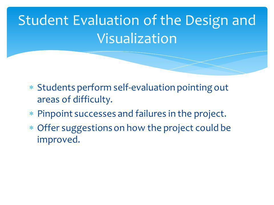 Student Evaluation of the Design and Visualization