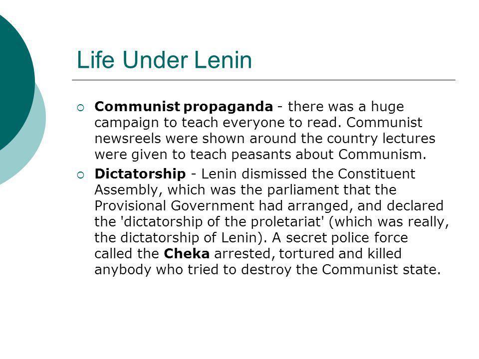 Life Under Lenin