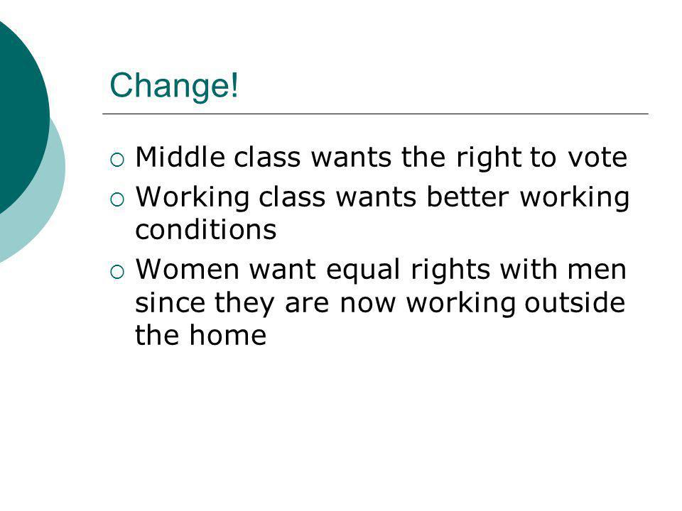 Change! Middle class wants the right to vote