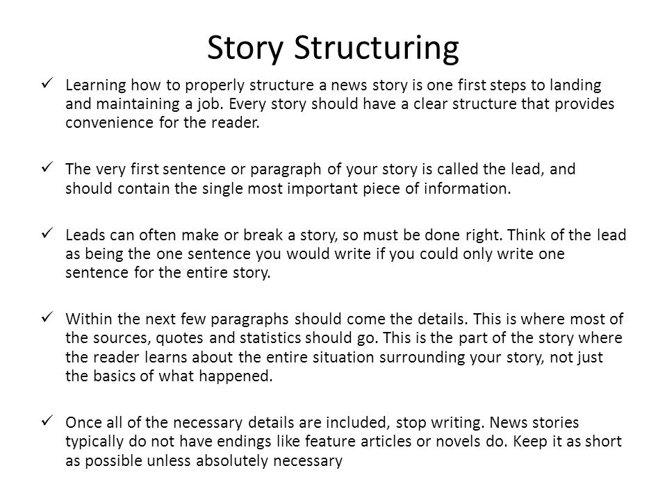 Story Structuring