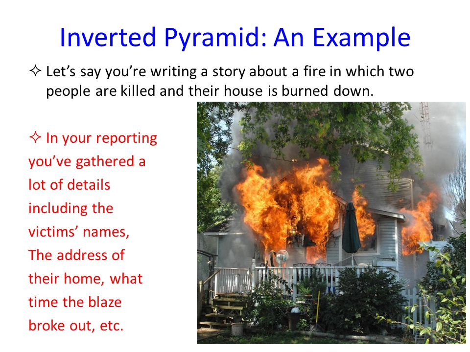 Inverted Pyramid: An Example