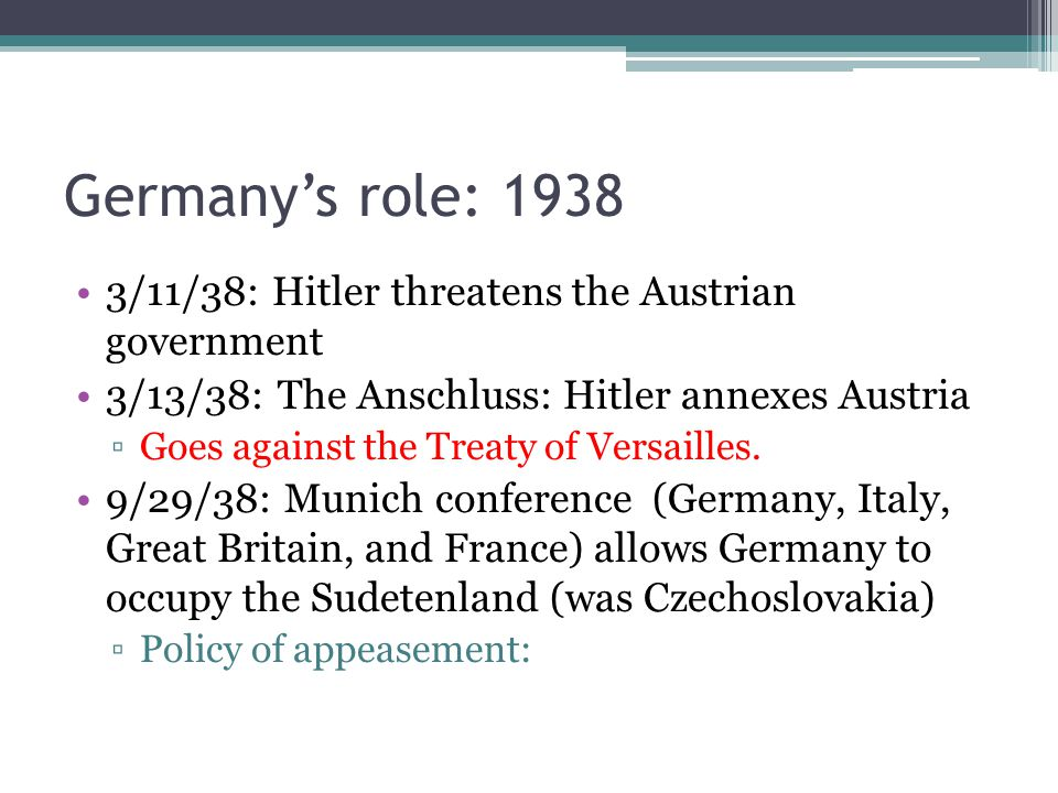 Germany's role: /11/38: Hitler threatens the Austrian government