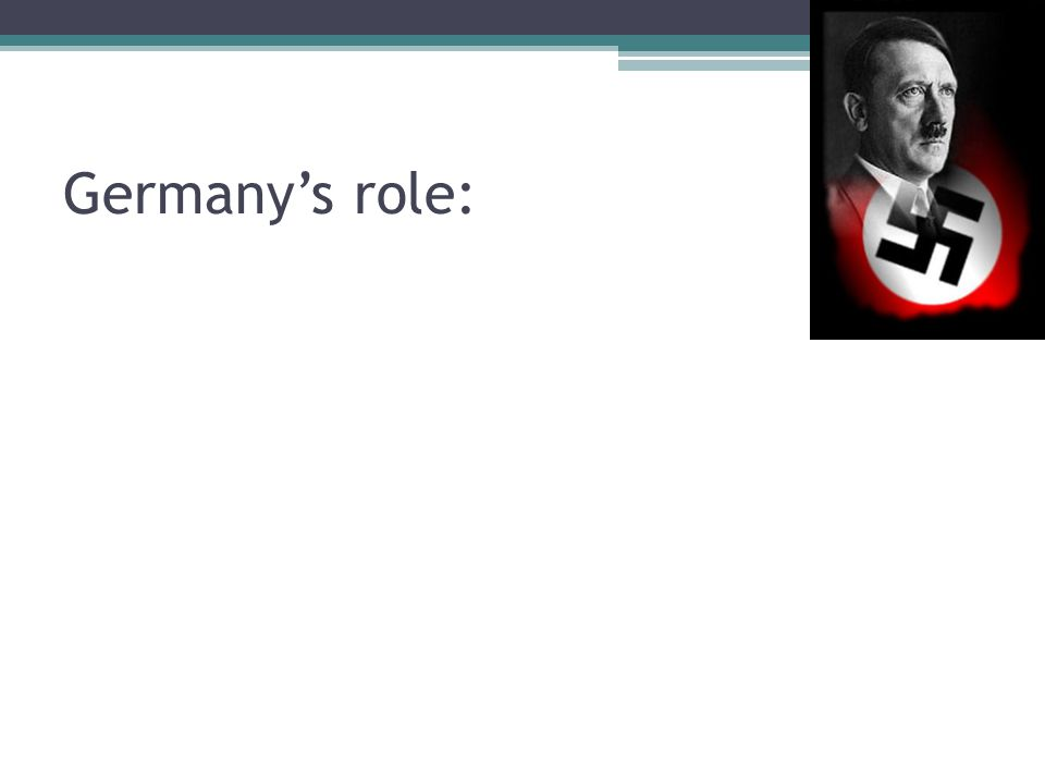 Germany's role: