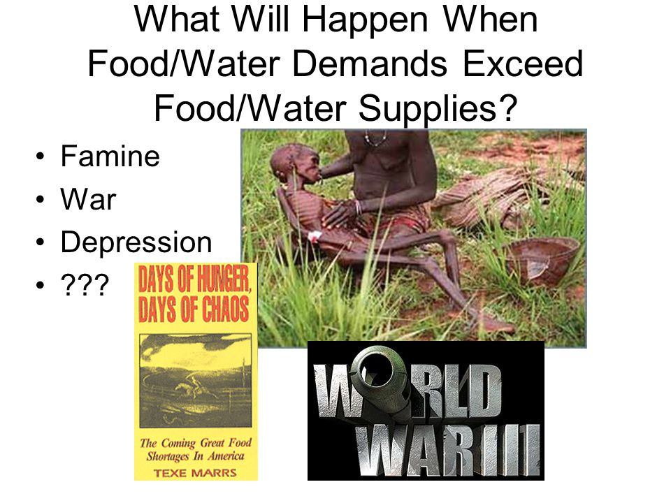 What Will Happen When Food/Water Demands Exceed Food/Water Supplies