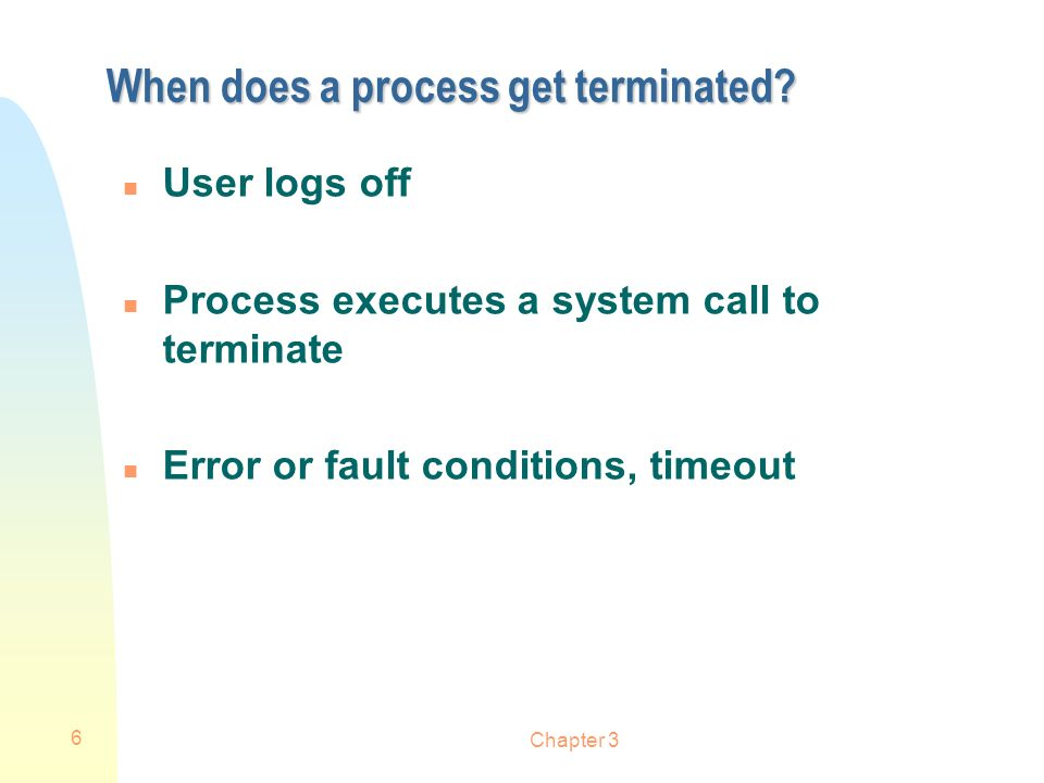 When does a process get terminated