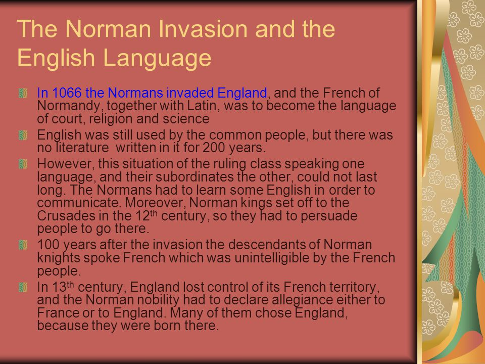 The Norman Invasion and the English Language