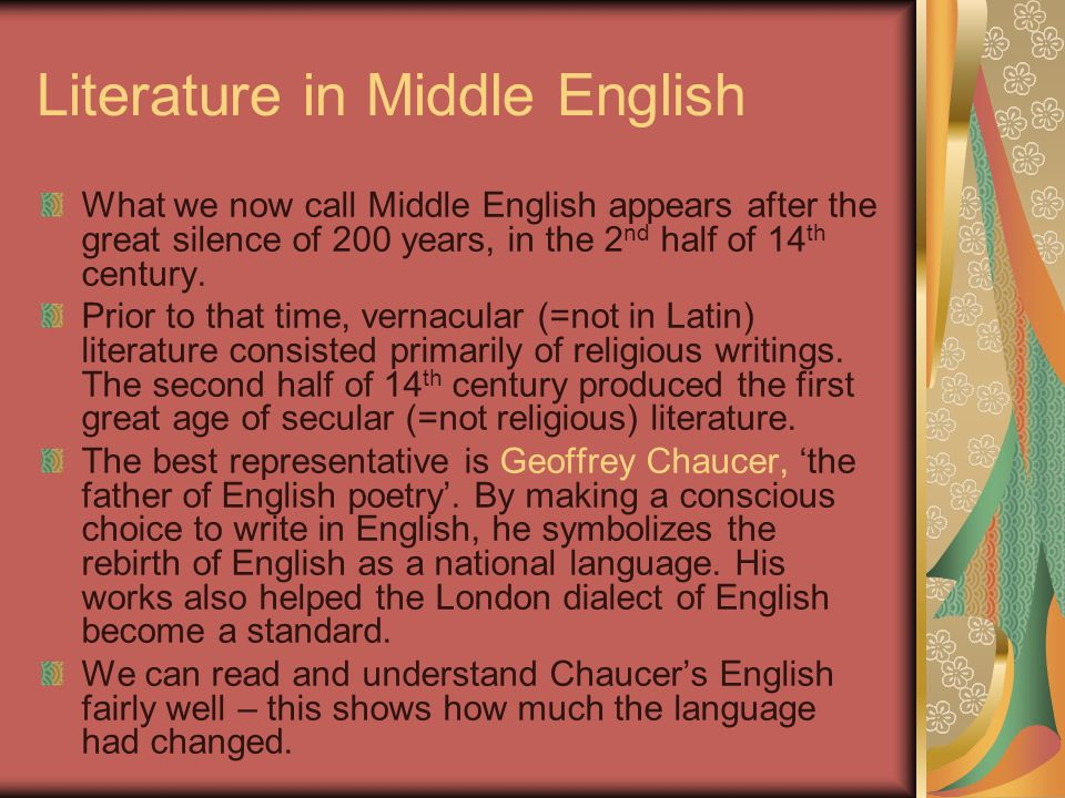 Literature in Middle English
