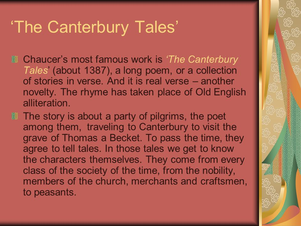 'The Canterbury Tales'