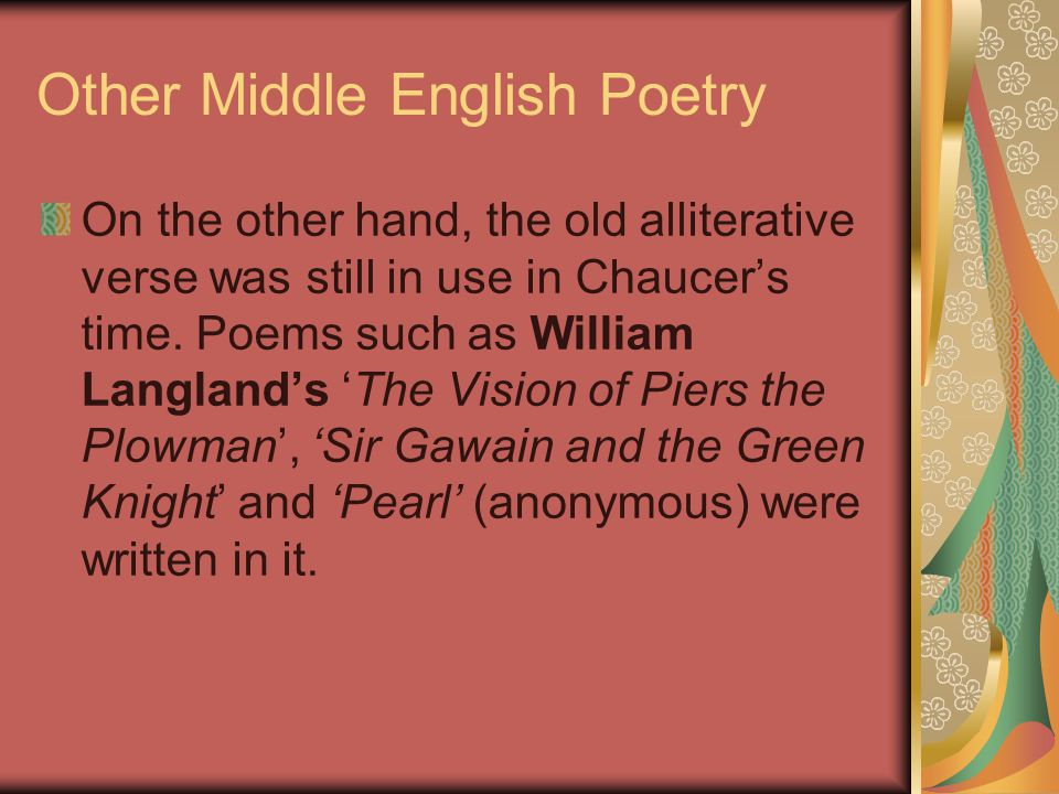Other Middle English Poetry