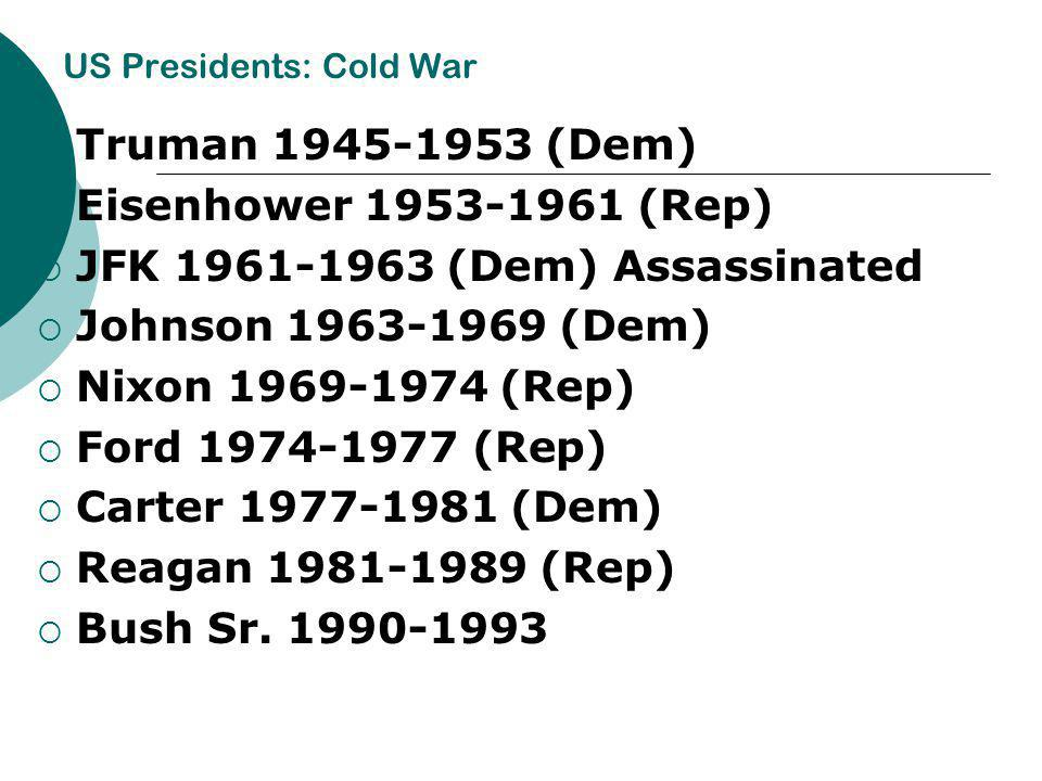 US Presidents: Cold War