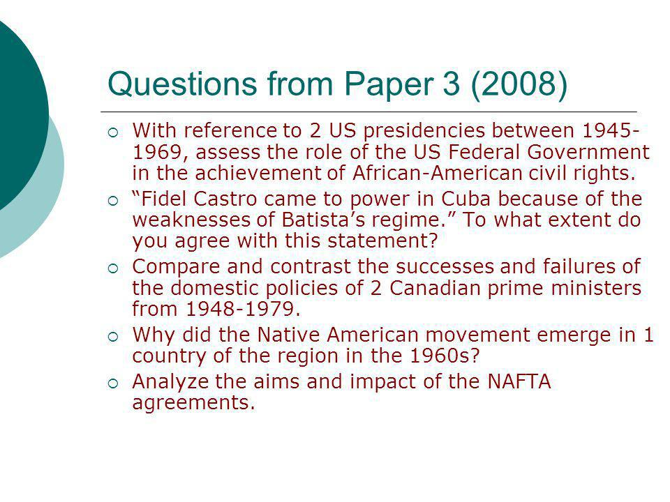 Questions from Paper 3 (2008)