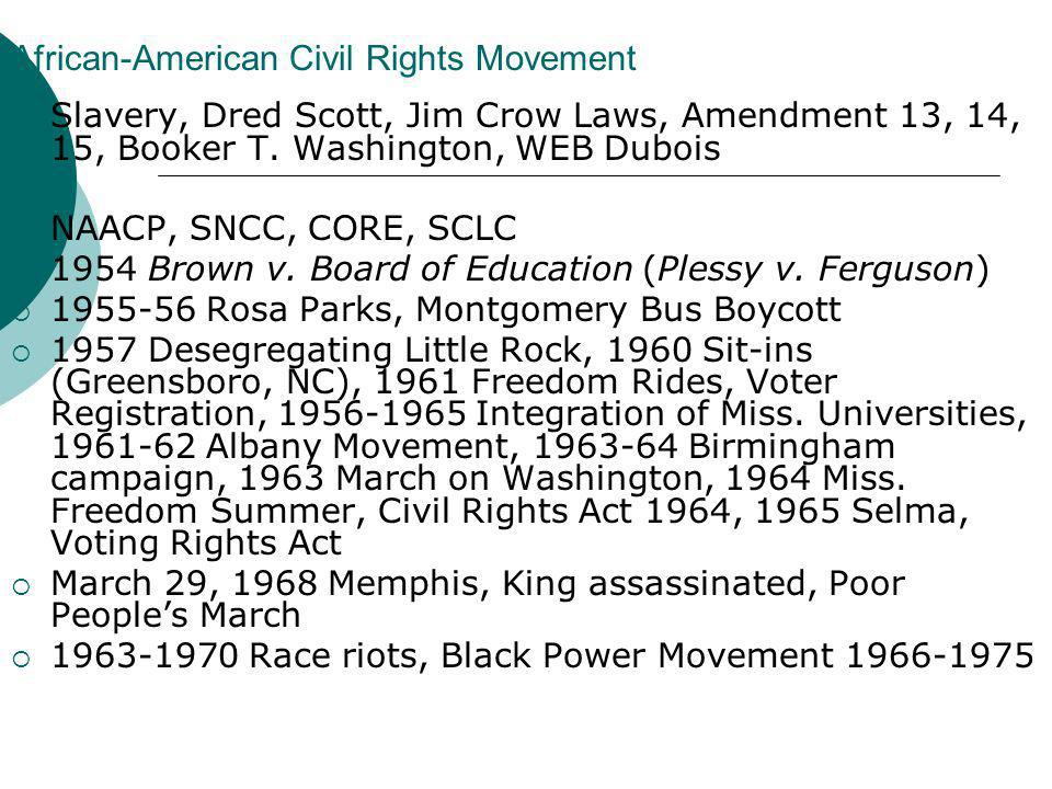 African-American Civil Rights Movement