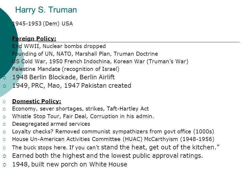 trumans domestic policy essay Find out more about the history of harry truman, including videos, interesting the president adopted a policy of containment toward soviet expansion and the.