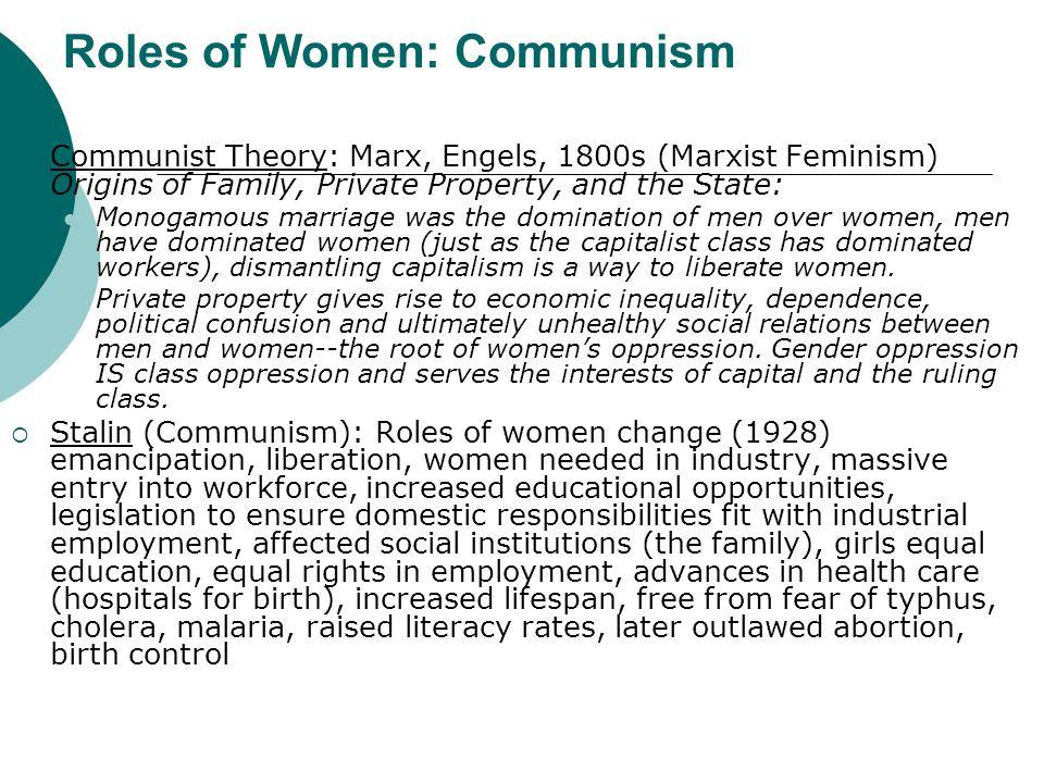 Roles of Women: Communism