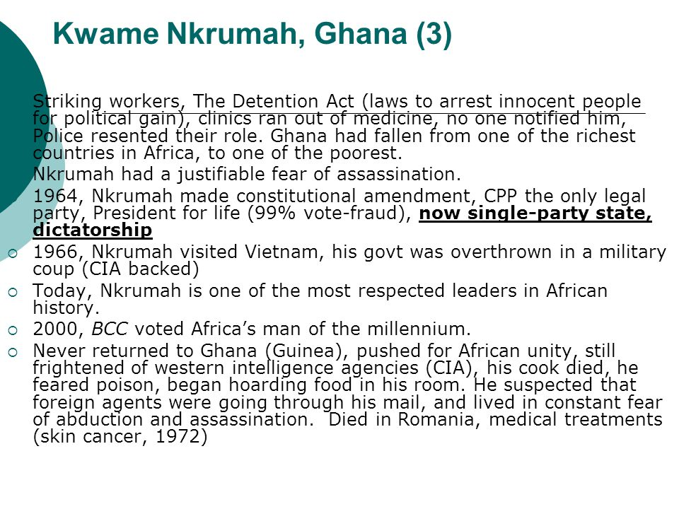 Kwame Nkrumah, Ghana (3)
