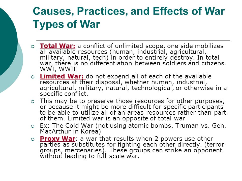 negative influences involving warfare essay