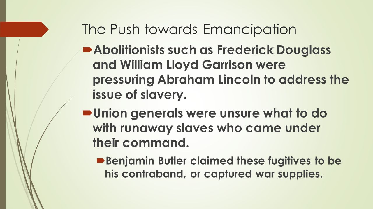 The Push towards Emancipation